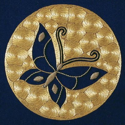 Goldwork Butterfly by Jane Zimmerman