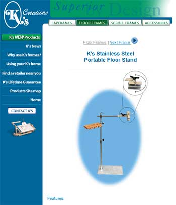 K's Creations Stainless Steel Floor Stand - Site opens in another window