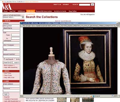 From the Victoria & Albert Museum - screen shot of Laton Jacket