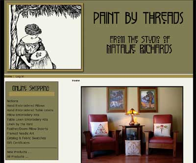 Paint by Threads Embroidered Art, Linens, and Kits