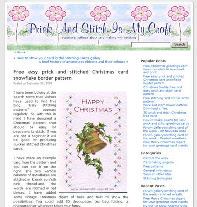 Stitching Cards Free Embroidery Patterns