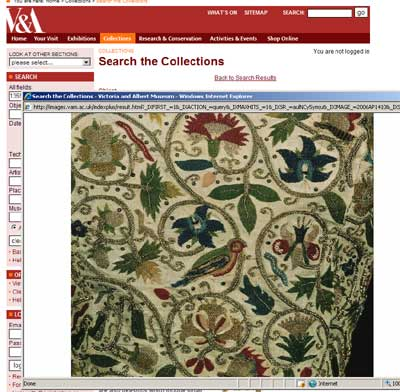 From the Victoria & Albert Museum - screen shot of 1359-1900 embroidered jacket