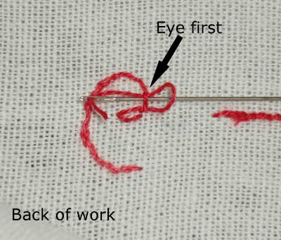 Starting a Thread: Using an Away Waste Knot to begin your embroidery thread