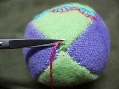 Hand embroidered stuffed Easter egg made from wool