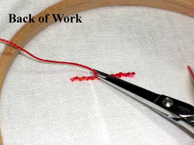 Ending Embroidery Threads