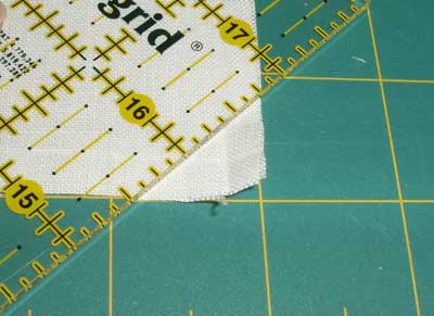 How to Mitre Corners on a Piece of Linen