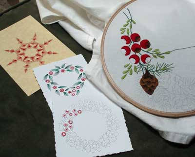 http://www.needlenthread.com/Images/Miscellaneous/Embroidery_on_Paper/Christmas_Cards/2008_Embroidered_Cards_01.jpg