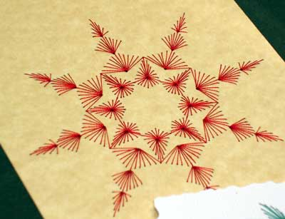 Christmas Tree Paper Embroidery Patterns - Holiday Christmas Trees