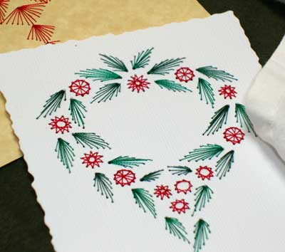 CHRISTMAS REDWORK ~ BLUEWORK MACHINE EMBROIDERY DESIGNS
