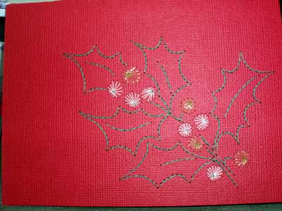 Hand Embroidery on Paper: Embroidered Christmas Cards, 2008