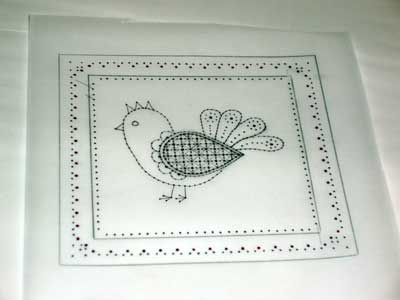 Embroidery on Paper: Hand Embroidered Greeting Card in Schwalm Whitework More or Less