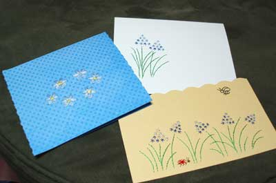 Stitched Greeting Cards: Embroidery on Paper