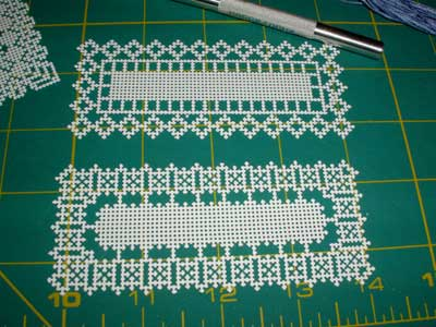 Hand Embroidery on Perforated Cardstock