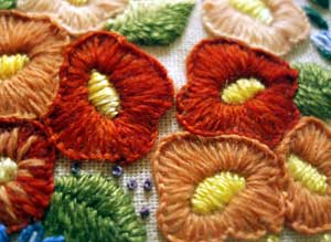 Blanket Stitch / Buttonhole stitch flowers