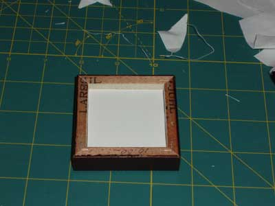 Framing a Miniature Embroidery Project