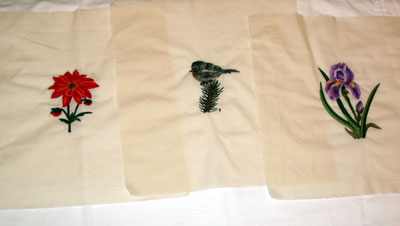 Preparing hand embroidery for framing