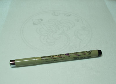 Sakura Pigma Micron Pen to trace designs