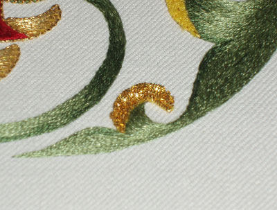 Green Silk and Goldwork