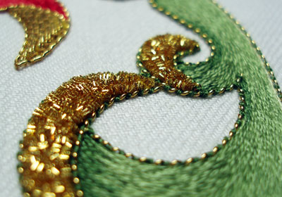 Goldwork Embroidery: The Finished Project