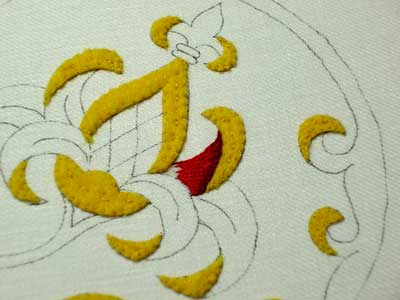 Goldwork Embroidery Project: Silk Shading