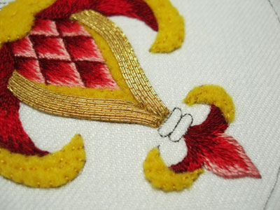 Goldwork Embroidery Project: Smooth Passing Thread