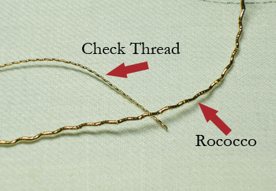 Goldwork Embroidery: Check Thread
