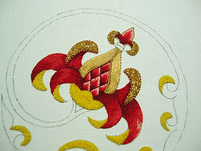 Goldwork Embroidery: Pearl Purl