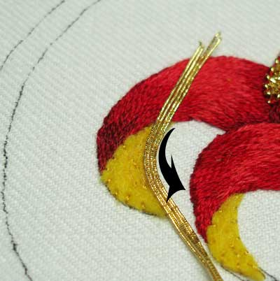 Goldwork Embroidery: Smooth Passing Thread