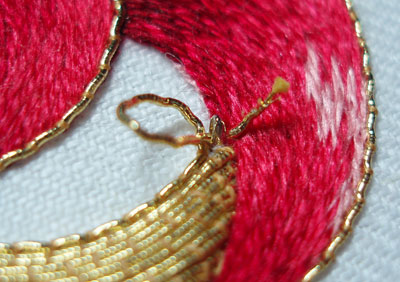 Goldwork Embroidery: Finishing Touches