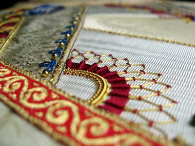 Goldwork and Crazy Quilting