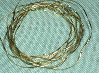 Real Metal Threads for Hand Embroidery: Flatworm
