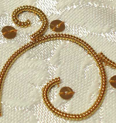 Goldwork Threads: Embroidery with Real Metal Threads: Pearl Purl