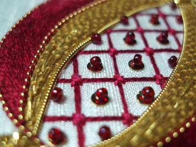 Golden Pomegranate Embroidery Project