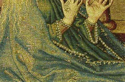 Mantle of the Virgin - Or Nué goldwork embroidery