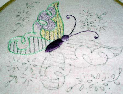 embroidered butterfly