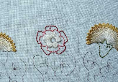 Floral Glove Needlecase historic embroidery project