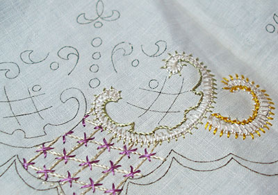 Silk Art Embroidery linens