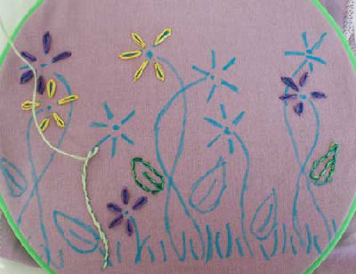Kids Embroidery Project - Drawstring Bag