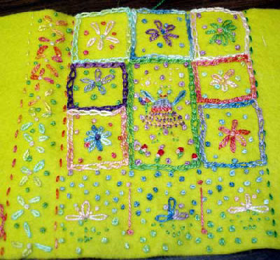 Children's Embroidery Projects: Notebook Cover