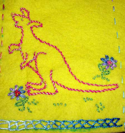 Outline stitching, Running stitch items in Hand Embroidery Stitch