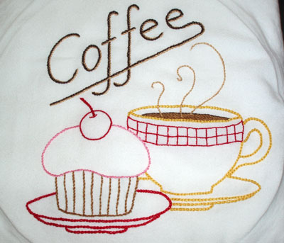 HAND EMBROIDERED DISH TOWELS - EMBROIDERY DESIGNS