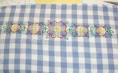 Embroidered Kitchen Towel from Summer Children's Embroidery, 2008