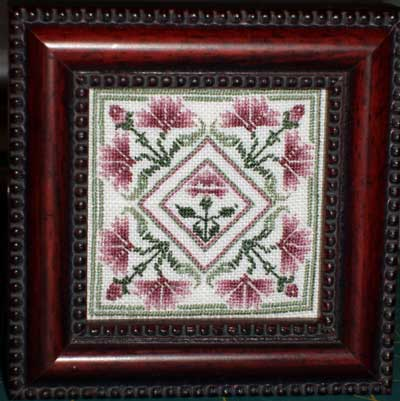 Miniature Embroidery Framed