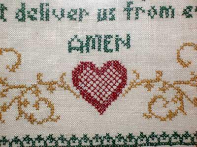 The Lord's Prayer Stamped Cross Stitch, 1959