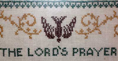 The Lord's Prayer Stamped Cross Stitch, 1959