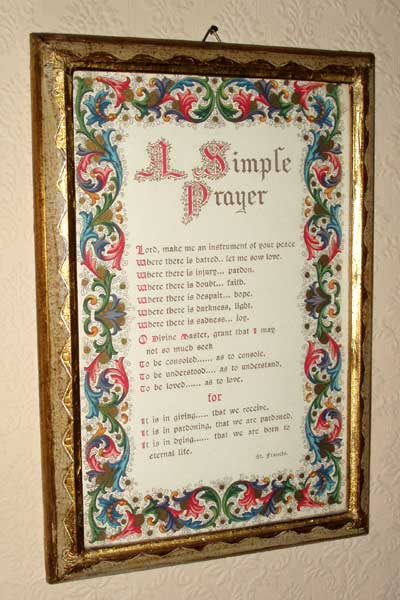 St. Francis Prayer Plaque