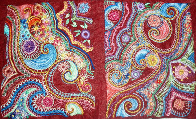 Hand Embroidery on Wool Felt: a Random Sampler with Lots of Stitching