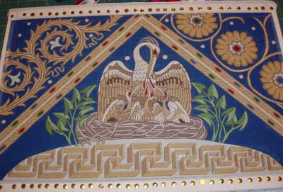 Pelican of Mercy in Needlepoint or Canvas Work