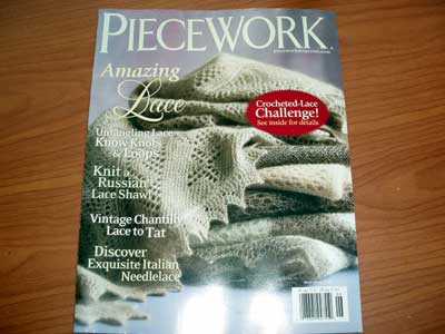Piecework Magazine, published by Interweave Press