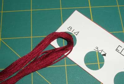 Thread Cards for Organizing Embroidery Threads